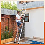 Bathla Vanguard Telescopic Aluminium Alloy Ladder with Anti-Slip Shoes