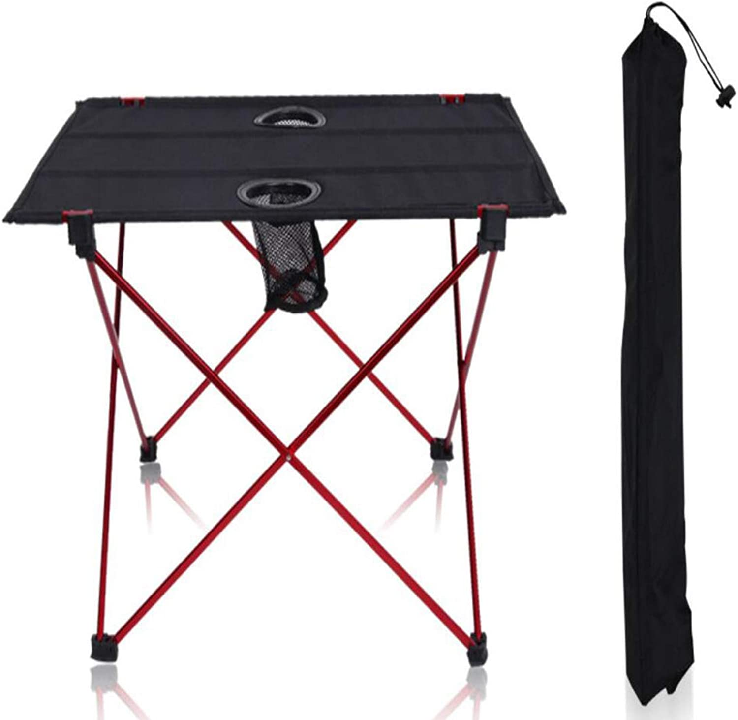 Folding Table, Black, Aluminum, Oxford, Outdoor Folding Table, Barbecue Picnic Table, with Storage Bag, Flexible, Lightweight