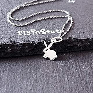 Bunny Rabbit Sterling Silver Necklace 18