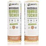 Doppelpack Bambus Allzwecktücher Küchenrolle - waschbare Haushaltstücher