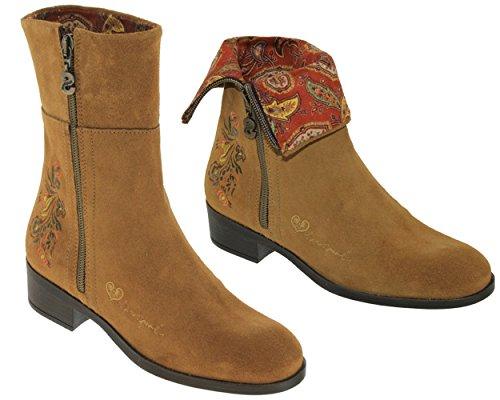 Desigual Damenschuhe Shoes NEOBOHO Pasley Ankle Boot braun (36)