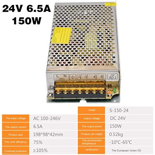 Jewelry 24V LEDストリップ用DC24V AC-DC 24Vのスイッチング電源DC24V 1Aと2A 2.5A 3Aの4.5A 5Aは6.5A 8.3A 10A 12.5A 15A 16.5A AC 220V、サイズ:6.5A (Size : 6.5A)
