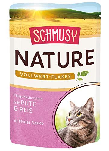 Schmusy Nature Vollwert-Flakes Pute & Reis, 22er Pack (22 x 100 g)
