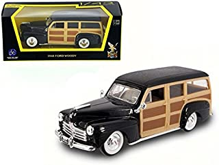 Maisto 1948 Ford Woody Wagon Black 1/43 Model Car by Road Signature