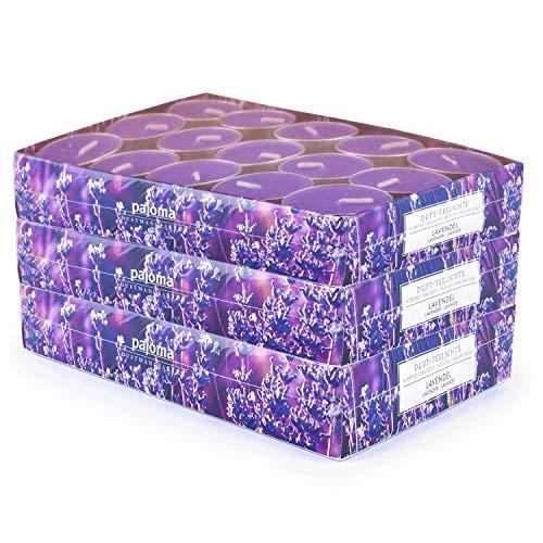 pajoma 90 Duft Teelichter 3x30 Stück Duftkerzen viele Düfte wählbar (Lavendel)