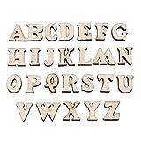 200pcs en bois mélangé lettres A-Z / 0-9 numéros pour DIY...