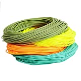 MAXIMUMCATCH Maxcatch Weight Forward Floating Fly Line 100ft Yellow, Orange, Teal Blue, Moss