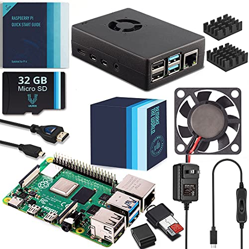 Vilros Raspberry Pi 4 4GB Complete Starter Kit with Fan-Cooled Heavy-Duty Aluminum Alloy Case (Black Case)