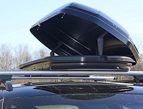 Dachbox Schwarz Vdp Maa580 Duo Großer Dachkoffer 580 Liter Beidseitig Aufklappbar Abschließbar Auto