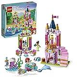 LEGO Disney Princess - Celebración Real de Ariel, Aurora y Tiana, castillo de princesa para construi...