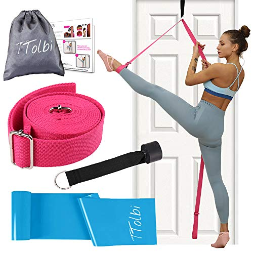 TTolbi Leg Stretcher: Stretching with Door Stretch Strap for Flexibility | Splits Trainer : Dance Equipment for Stretching in Ballet, Cheerleading, Gymnastics