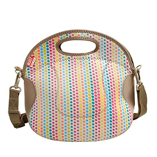 BUILT NY Spicy Relish Neoprene Lunch Bag with Adjustable Crossbody Strap,...