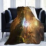 Yuanmeiju Ori Will Wisps Ultra Soft Fleece Manta de Tiro Cozy Warm Plush Manta de Tiro Sofa Bed Couch