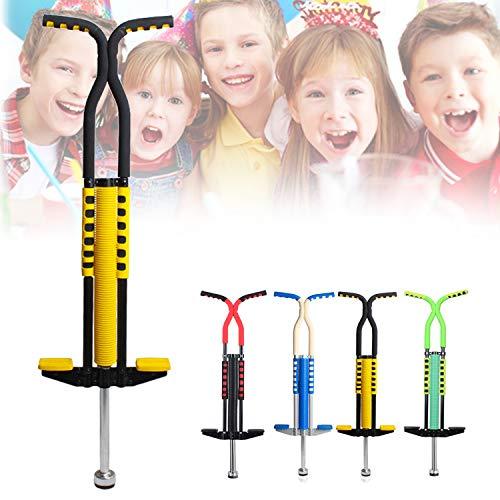 AJAMQ Pogo Stick, Adecuado para Niños De 6 A 16 Años, El Muelle De Doble Tubo De Acero Puede Soportar 60 Kg, Ejercita El Equilibrio Corporal De Los Niños, Adecuado para Interior Y Exterior,Amarillo