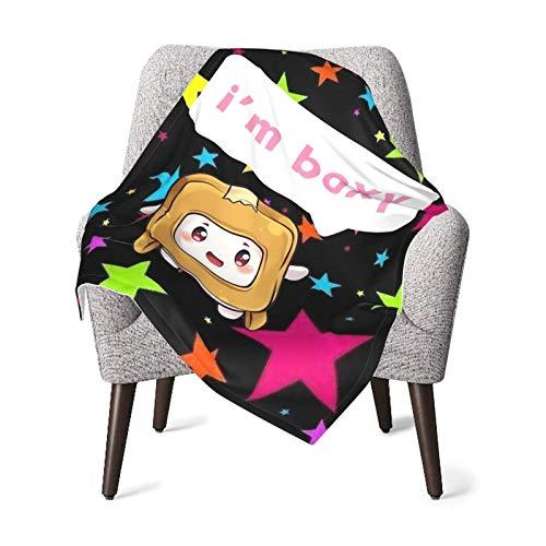 AOOEDM Lankybox Merch Lankybox Boxy Soft Kleinkind Quilt Kids Leichte Babydecke Mehrzweck-Mikrofaser Cosy Crib Tröster Atmungsaktive Stilldecke (30 'X40')