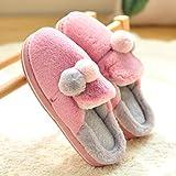 LJXLXY Zapatillas de Mujer de casa Zapatillas de algodón Damas hogar Interior Invierno Gruesa Inferior casa de Felpa Tibia Algodón SPA Zapatillas (Color : C, tamaño : 40-41)
