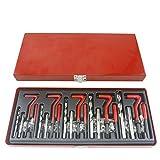 Montloxs Kit di riparazione filettatura M12 x 1,25 15 pezzi Helicoil compatibile con filettature danneggiate da 12 mm