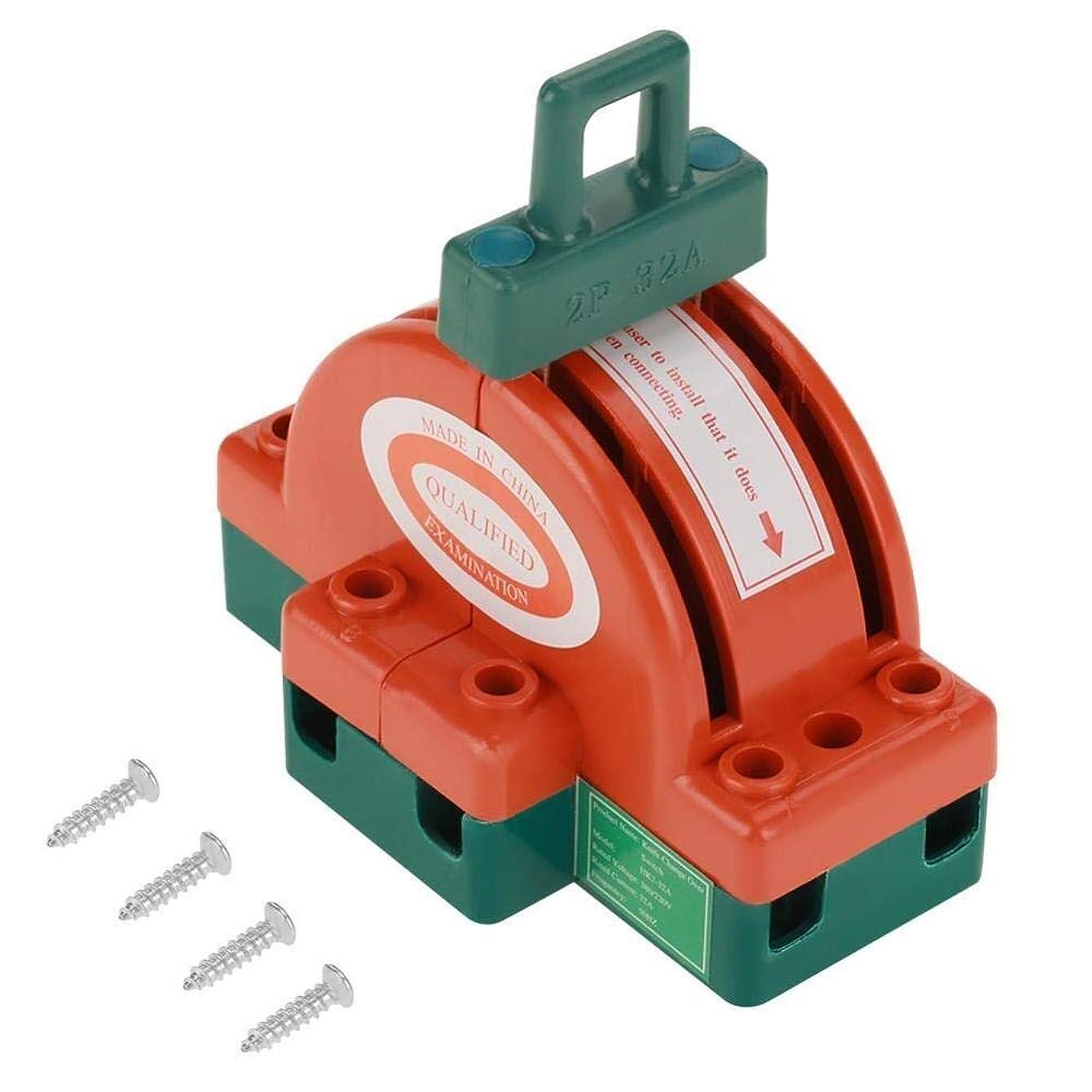 受け取る細分化する挑発するZJN-JN 遮断器 2個ダブルその他、各種バックアップジェネレータで切り替え、フェイルセーフサーキットブレーカー用電力にオフ制御半円ブレーカを、ナイフスイッチ、32A AC 220V 2極安全切断スイッチを投げます