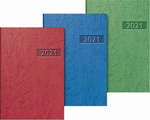 Brunnen 1071200951 Taschenkalender 2021, Modell 712, 2 Seiten = 1 Woche, 7,6 x 10,2 cm, Blattgröße 7,2 x 10,2 cm, Karton-Einband, farbig bedruckt
