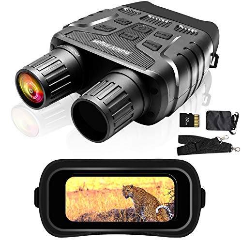 ISHARE Digital Day and Night Vision Binoculars,HD TFT Night Vision Goggles,with High Pixel and 4X Digital Zoom,Photos and Videos Features for Hunting and Surveillance