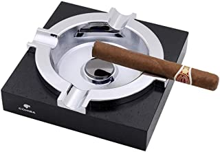 YASE-king Ashtray, Merbau, Solid Wood, Cigar Special, Square, Cigar Living Room, Fashion, Creativity. Ideal for Home, Office use, Welcome to Buy (Color : Black),Colour:Black (Color : Black)