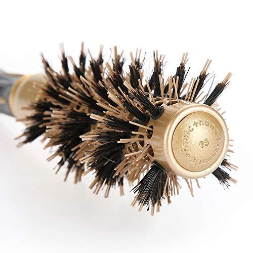 Cepillo de peluquería para secar, rizar, alisar, protección del cabello [01], profesional y antiestático, peine redondo