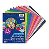 SunWorks Construction Paper, 10 Assorted Colors, 9' x 12', 500 Sheets, PCON01500
