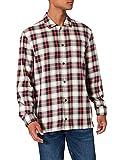 Tommy Hilfiger Cotton Linen Tartan Shirt Camisa, Bronceado del Desierto, Montaña Rocosa/Multi, 3XL para Hombre