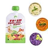 wonderday 8pcs Bolsas de comida para bébés reutilizables, 100 ml bolsa de...