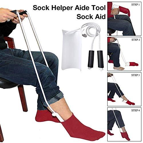 Sokkenhulpen voor kousen en sokken, aantrekhulp, sock aid kousen, voor ouderen, gehandicapten, zwangere vrouwen