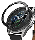 Ringke Bezel Styling Compatible with Galaxy Watch 3 45mm Bezel Ring Adhesive Cover Anti Scratch Stainless Steel Protection Accessory - Matte Black [45-04]