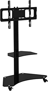 Artiss Mobile TV Stand Mount for 32'' to 70'' LCD LED Plasma Flat Screens and Displays, Swivel and Height Adjustable