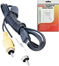 HQRP AV Audio Video Cable/Cord compatible with KODAK EASYSHARE C330, C340, C360, C503, C533 Zoom Digital Camera plus LCD Screen Protector