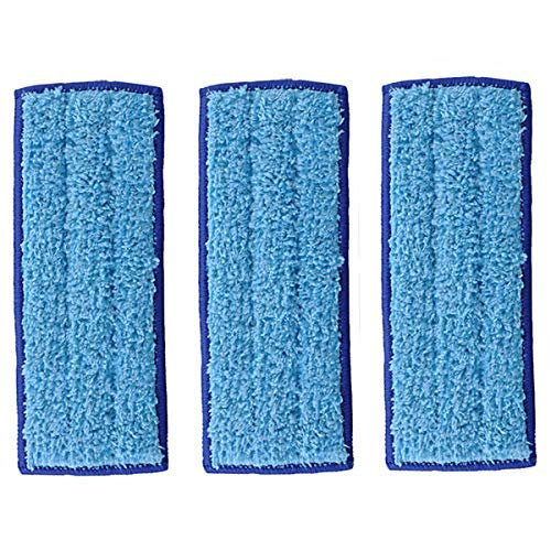 LICORNE Mop Heads Washable Mopping Pads for IRobot Braava Jet 240 241 Mop Pads, Reusable Blue Wet Pads Sweeping 3 Pcs