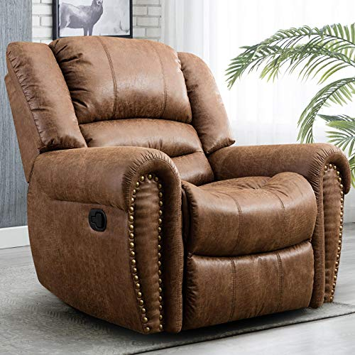 CANMOV Recliner Chair Breathable Bonded Leather