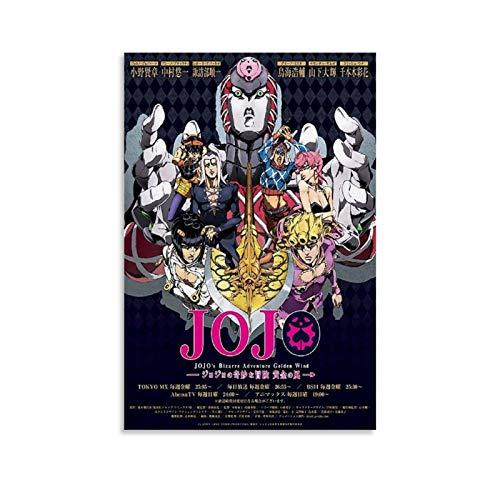 Poster sur toile Jojo's Bizarre Adventure Anime - Art mural - Impression moderne - Décoration de chambre de famille - 30 x 45 cm