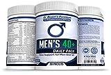 Men's Over 40 Daily Pack Vitamins Minerals, 42 Fruits and Vegetables, Digestive Enzymes, Spirulina, Wheat Grass, Fish Oil, Probiotics, Green Tea, Echinacea, Fiber, Kelp, Resveratrol, Plus!