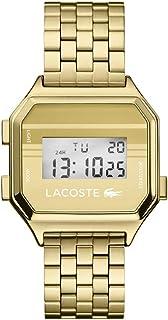 ساعة لاكوست بيرلين كوارتز مع سوار ستانلس ستيل، لون ذهبي، 18 موديل 2020138