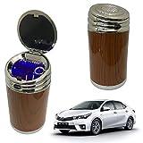 Oshotto High Temperature Portable Wooden Design Car Ashtray for Toyota Corolla Altis