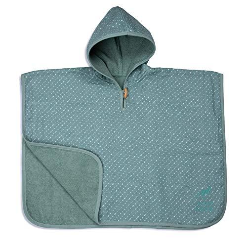 Urban Kanga Ponczo płaszcz kąpielowy z kapturem, dwustronny ręcznik dla niemowląt