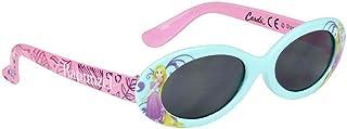 Les Princesses Disney - Gafas de sol con funda para niña, diseño de princesa, color azul y rosa TU (3 a 8 años)