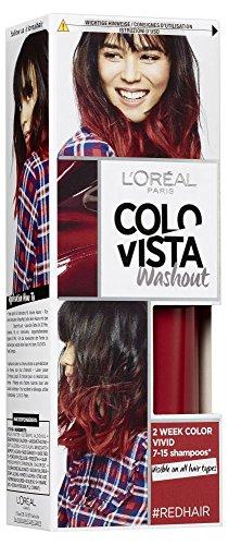 L'Oréal Paris Colovista 2-Week Washout #REDHAIR, Haarfarbe, auswaschbar nach 7-15 Haarwäschen, in knalligem Rot, #DOITYOURWAY