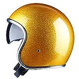 Casco de moto Jet Open Face Casco con lente Cascos Para Vintage 3/4 Open Face Half Moto Casco de moto