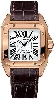 Cartier Santos 100 18kt Rose Gold Ladies Watch W20108Y1