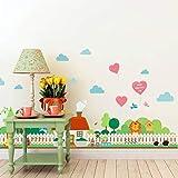 Gartenzaun Kinderzimmer Wandaufkleber Schlafzimmer Garten Wandtattoo Poster 3d Dekoration