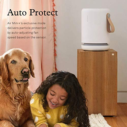 Molekule Air Mini+ Small Room Air Purifier with Particle Sensor and PECO Technology for Allergens, Pollutants, Viruses, Bacteria, and Mold, White