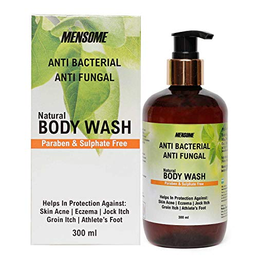 MENSOME Anti Bacterial and Anti Fungal Body wash with Apple Cider Vinegar, Oregano Oil, Turmeric Oil and other therapeutic oils and herbs in 300 ml