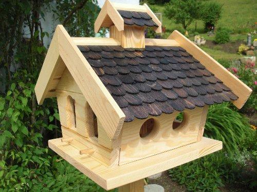 Vogelhaus Vogelhäuser (V11) Vogelfutterhaus Vogelhäuschen-aus Holz-DHL (Schwarz)