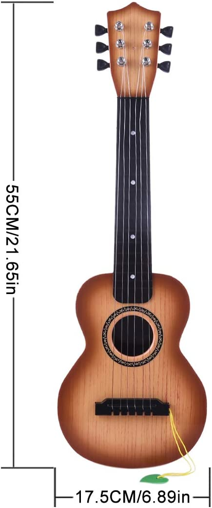 Guitar Toys for Kids 6 Strings Musical Instruments Educational Toy Guitar for Beginners Kids Ages 3 4 5 6 7 8 9 10 11 12