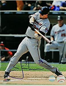 Justin Morneau 2003-13 Minnesota Twins Autographed Signed Baseball 8x10 Photo